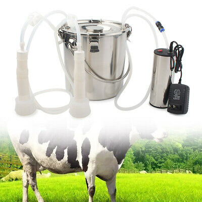 Portable Electric Milking Machine Vacuum Impulse Pump For Cow Goat Milker 5l