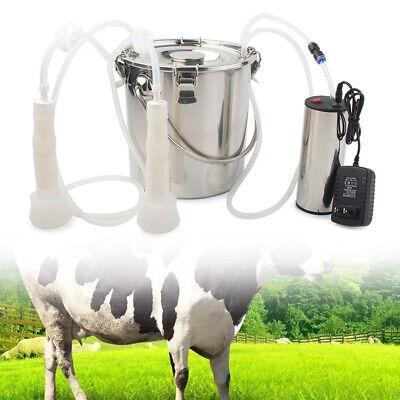 Portable Electric Milking Machine Vacuum Impulse Pump For Cow Goat Milker 5l