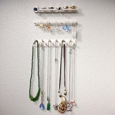 Jewelry Organizer Wall Mount Holder Display Stand Earring Display Rack Hanging F