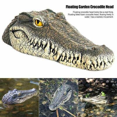 Krokodil Kopf (Schwimmende Gartenteich Wasserspiel Krokodil / Alligator Ornament Kopf kün Nett)