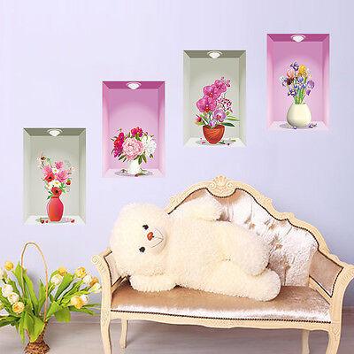 Wandtattoo Wandsticker Wandaufkleber Premium Blumen Wohnzimmer Dekorative 3D#114