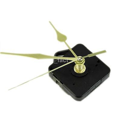 New Quartz Clock Movement Mechanism Long Spindle Gold Hand Repair Tool Parts Kit