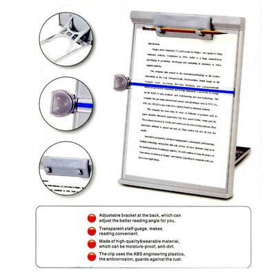A4 Clip Typing Paper Holder Document Adjustable Copy Reading Rest Stand Us