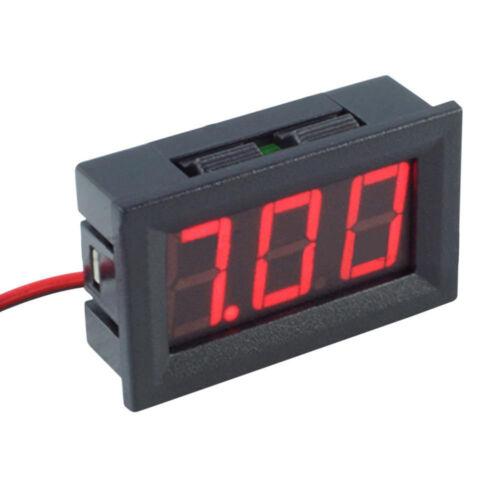"""4.5-30V DC Two-Wire 0.56"""" Red Panel Mount LED Digital Voltmeter Voltage Meter US"""