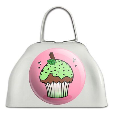 Mint Chocolate Cupcake White Metal Cowbell Cow Bell Instrument
