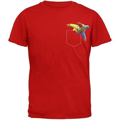 Halloween Jack In The Box (Pocket Halloween Horror Jack-In-The-Box Red Adult T-Shirt)