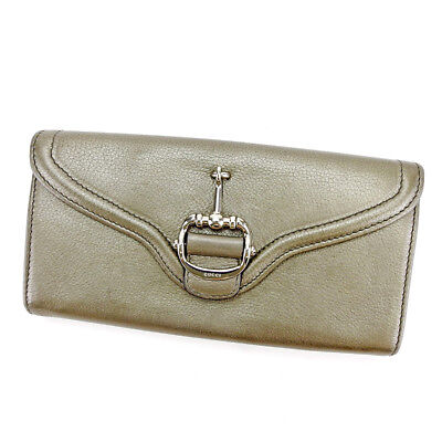 Auth GUCCI purse Wallet Horse Bit Men