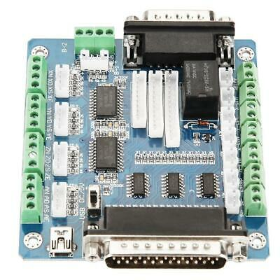 Mach3 Interface 5 Axis Stepper Motor Driver Controller Breakout Controll Board