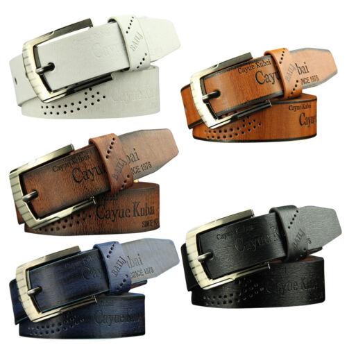 Mens Casual Retro Antique Buckle Pin Waist Strap Belts Waist