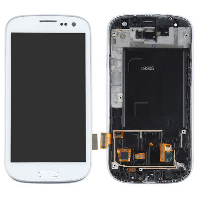 For Samsung Galaxy S3 i9305 Full LCD Touch Screen Glass Digitizer Frame Assembly for sale  China