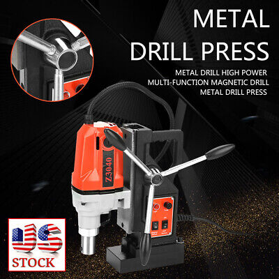 Z3040 Magnetic Core Drill Press Machine 0.7 Boring 12000n Magnet Force 1100w Us