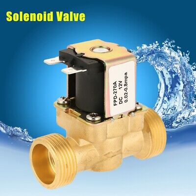1pc Dc12v G34 Normally Closed Brass Electric Solenoid Magnetic Valve For Water