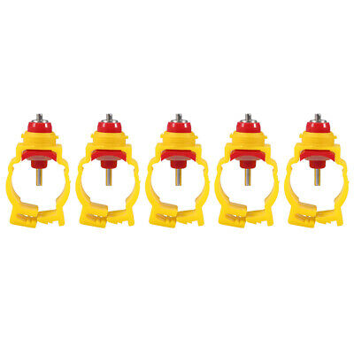 20pcs Automatic Chicken Feeder Nipples Duck Poultry Water Drinking Dispenser New