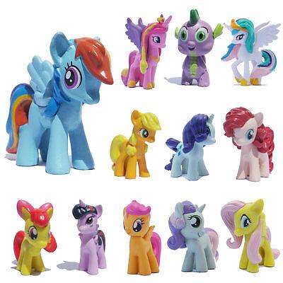 12 Pcs Set Lot My Little Pony Friendship Is Magic Action Figure Kids Funs Toy