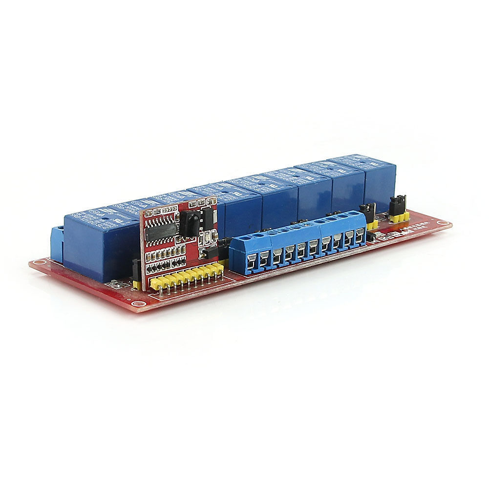 12V Multi-function Infrared Remote Control 8-Channel Relay ...