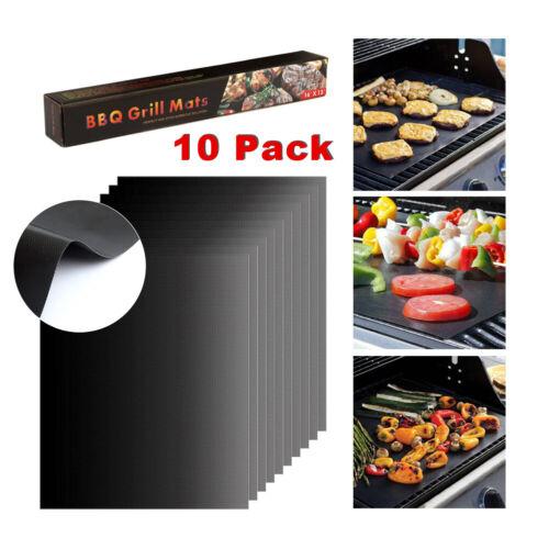 10er Set Grillmatte Zum Grillen Backen 40x33cm für Holzkohle- Elektro- Gasgrill