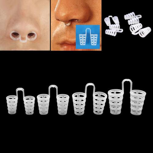 4 Pcs Silicone Anti Snore Nasal Dilators Apnea Aid Device St