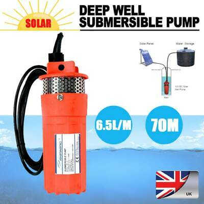 DC 12V Submersible Deep Well Water Pump Solar Battery for Pond Garden Watering
