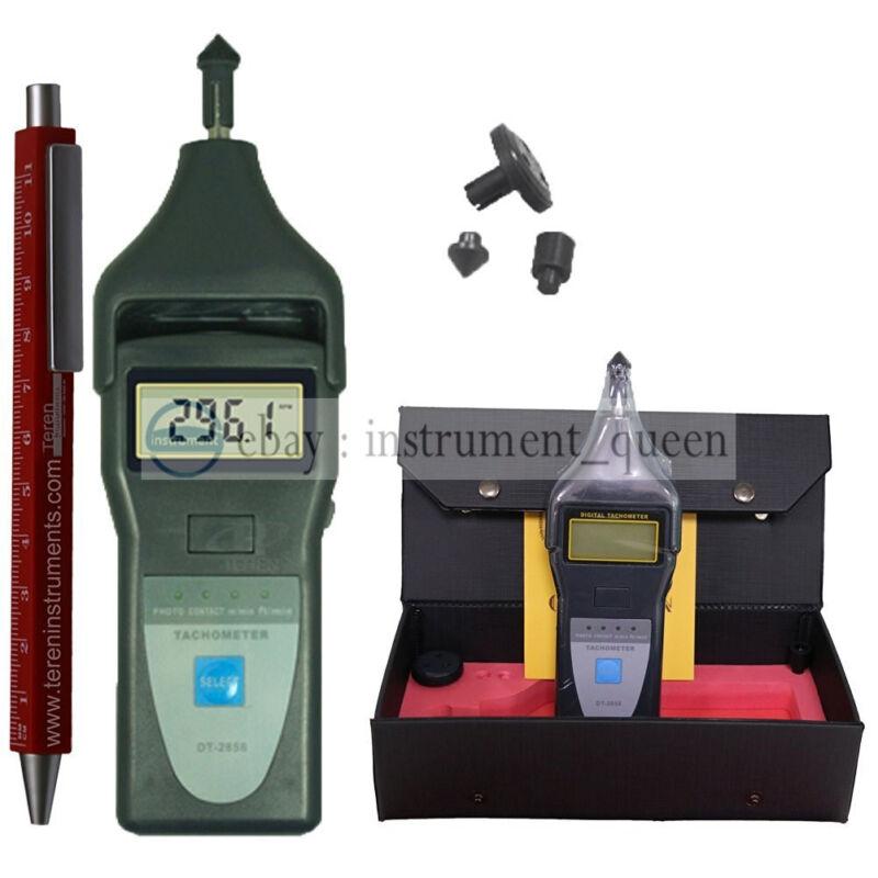 LANDTEK DT2856 Photo Contact Tachometer Laser RPM Meter Speedometer