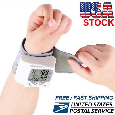LCD Digital Wrist Blood Pressure Monitor Measure Heart Rate