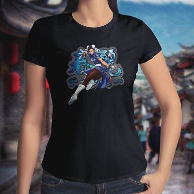 Li Hyakuretsukyaku Kung Fu Tee Top Womens Juniors T-Shirt (Street Fighter Womens)