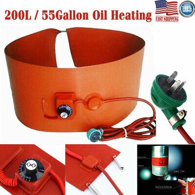200l 55gallon 1000w Silicone Band Drum Heater Oil Biodiesel Metal Barrel 110v