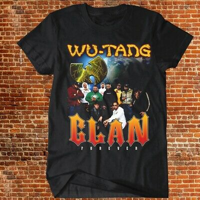 Wu-Tang Clan Forever T-shirt Vintage RAP Hip Hop R&B Music Tee Repro