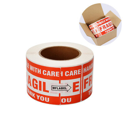 1 Roll 3x5 Fragile Stickers For Handle With Care Shipping Labels 500roll