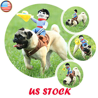 Halloween Clothes For Dogs (Funny Pet Dogs Clothes Riding Horse Rodeo Cowboy Costume Halloween Party)