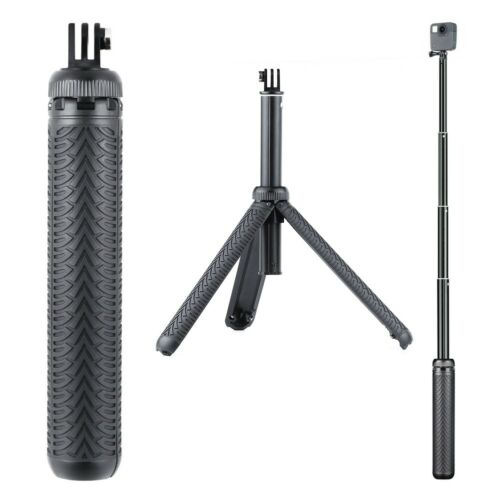 3in1 extendable monopod selfie stick grip handle