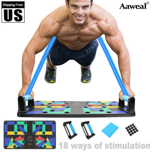 Complete Push Up Rack Board 18/9 In 1 Body Building Fitness Exercise training