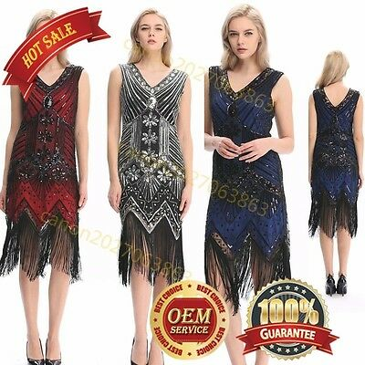 Flapper Girl 1920s Sequined Inspired Beaded Gatsby Flapper Club Dress Plus Sizes - Plus Size Beaded Flapper Dress