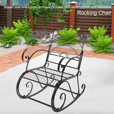 Garden Antique Rocking Chair Metal Bench One Double Seater 1-seat Armrest