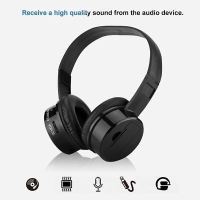 IR Infrared Headphone Wireless Stereo Headphones Headset Dual Channel Earphones Dual Channel Infrared Stereo Headphones