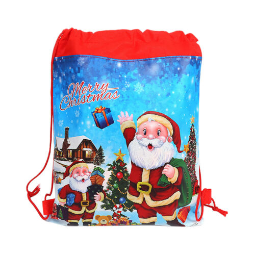 2/5/10X Christmas Santa Gift Pouch Bag Large Capacity Non-wo