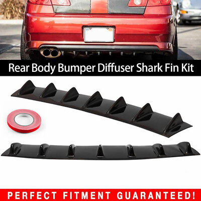 ABS Car Rear Body Bumper Lip Diffuser Shark Fin 7 Spoiler Wing Chassis 33X6