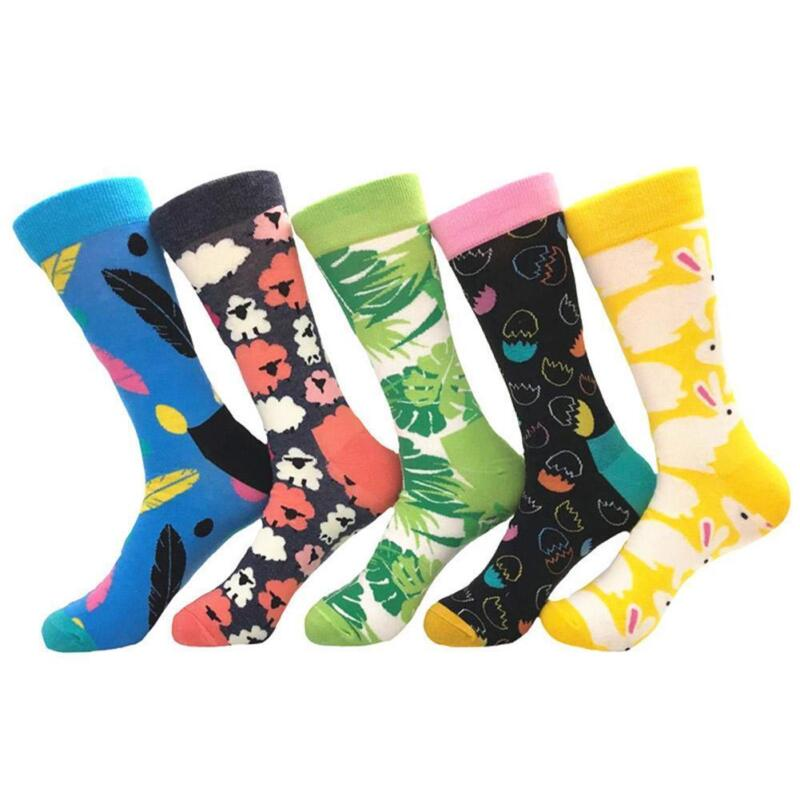Lustige bunte Mittellange Socken Neuheit Frauen Männer Paar Baumwollsocken