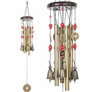 4 Tubes 5bells Bronze Wind Chimes 60cm Chinese Traditional Amazing