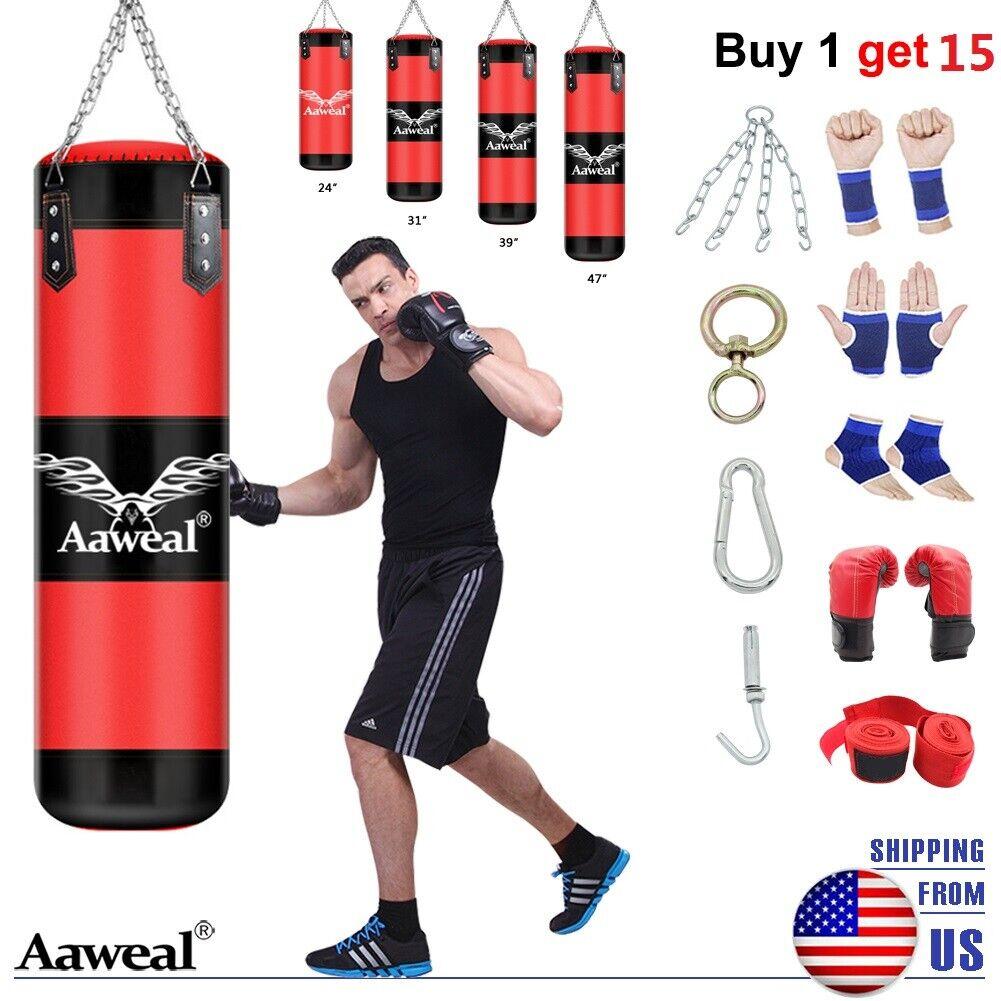 Training Kicking Workout GYM 47/'/' Full Heavy Boxing Punching Bag Empty