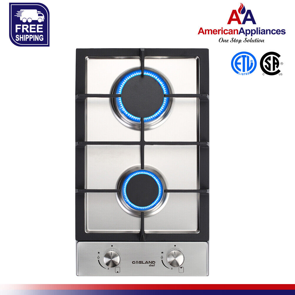 Gasland Chef GH30SF Built-in Gas Stove Top 12'' With 2 Seale
