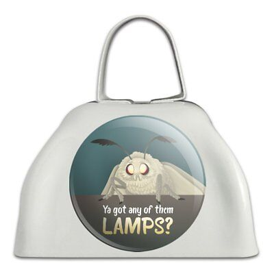 Moth Lamp Meme White Metal Cowbell Cow Bell Instrument