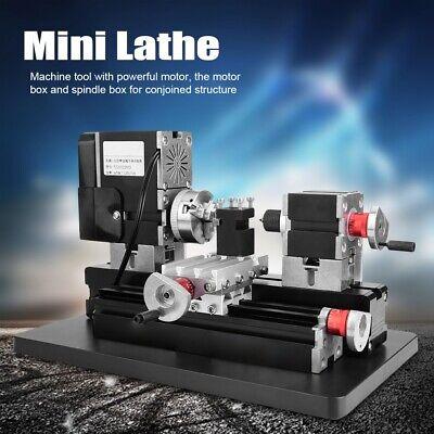 Mini Lathe 60w Power Metal Machine 12000rpm Motor Woodworking Soft Diy Tool