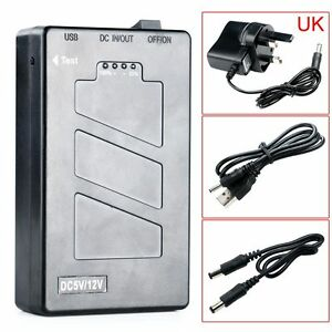 DC 5V/12.6V 2 In 1 Rechargeable 10000 Mah Li-ion Battery Pack UK Adapter New