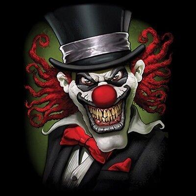Crazy Clown (Crazy Clown Shirt, Joker, Evil, Scary, Jester, Skeleton, Sinister, Small -)