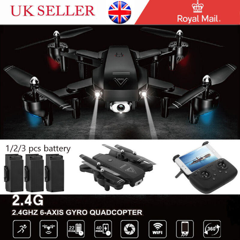 RC Drones L103 2.4G With 1080P HD Camera  WIFI FPV Foldable Quadcopter UK New