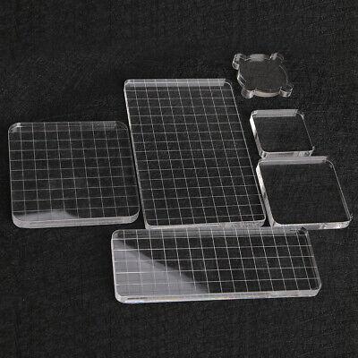 - Acrylic Clear Stamp Block Scrapbook Stamp Pad DIY Tool Block Transparent