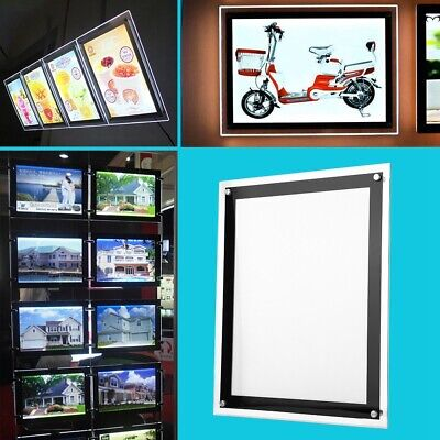 110v Led Light Box Advertising Acrylic Snap Frame Backlit Board Poster Display