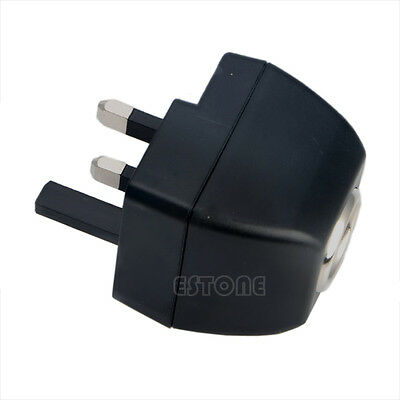 UK Plug 220V AC Wall Power to 12V DC Car Cigarette Lighter Adapter Universal New