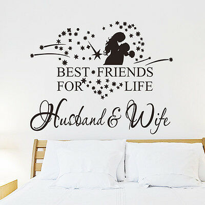 BEST FRIENDS FOR LIFE Couple Husband Wife Vinyl Wall Decal Lettering Words (Best Friends Wall)