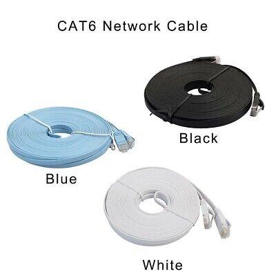 RJ45 CAT6 Ethernet Network LAN Cable Cord Flat UTP Patch Router Modem 50FT -